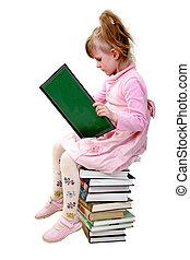 isolado, leitura, menina