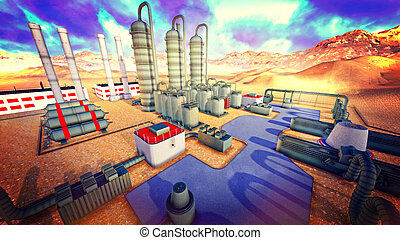 Refinery - the artwork illustration