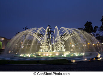 Magical Water Circuit in Reserve Park Lima Peru -...