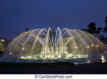 mágico, água, circuito, reserva, parque, Lima,...