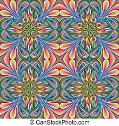 Floral design in art nouveau style - seamless vector pattern...