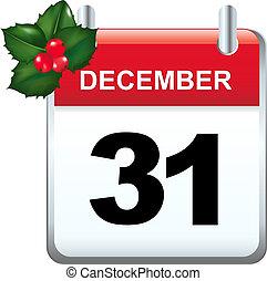 Xmas Calendar With Gradient Mesh, Vector Illustration