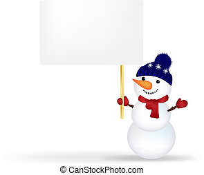 Christmas Snowman With Announcement