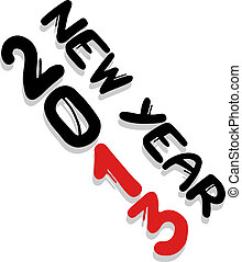 New year 2013 - Creative design of new year 2013