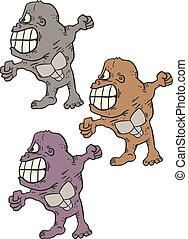 Three gorillas