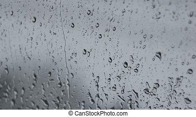 Rain drops, two shots