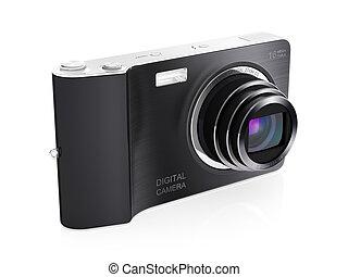 Digital camera - 3D illustration of modern digital camera...