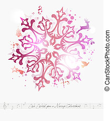 Merry Christmas contemporary background - Contemporary we...