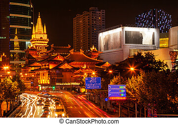 Jing An Temple Park Nanjing Street Shanghai China - Golden...