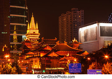 Golden Temples Roof Top Jing An Tranquility TempleCentral...