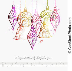 Merry Christmas contemporary baubles - Contemporary Merry...