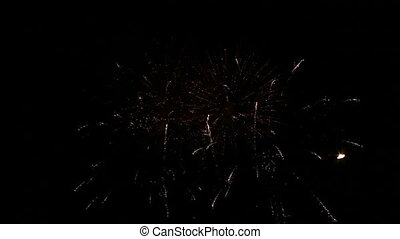 Fourth of July - Fireworks lighting up the sky on fourth of...