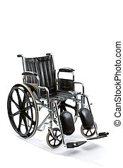 Empty Wheelchair - Empty black and chrome wheelchair sits...