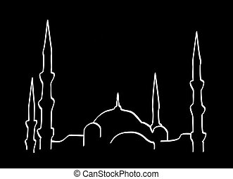 Santa Sophia, Istanbul - Illustration of Santa Sophia, in...