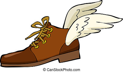Shoe with wings