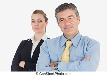 Confident business people with arms crossed - Portrait of...