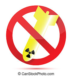 no radioactive bombs illustration