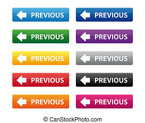 Previous buttons - Collection of previous buttons in various...
