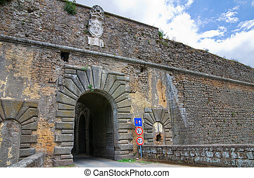 Porta romana. Nepi. Lazio. Italy.