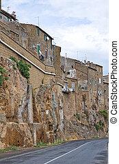 Alleyway. Civita Castellana. Lazio. Italy.