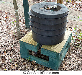 Worm Compost Bin - Worm compost bin or factory with a...