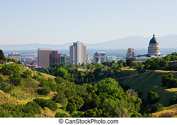 Salt Lake City, Utah - Skyline in Salt Lake City, Utah