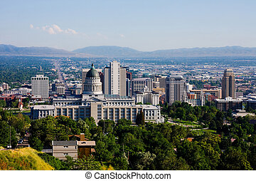 Salt Lake City, Utah - Buildings in downtown Salt Lake City,...