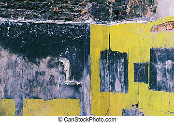 Corroded Wall - 1 - A cor