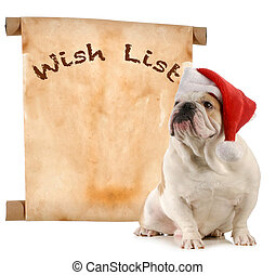 pet wish list - pet christmas wish list - english bulldog...