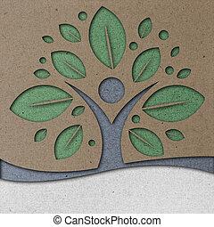 Human Tree Paper Art