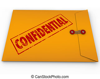 Confidential Classified Envelope Secret Information - A...