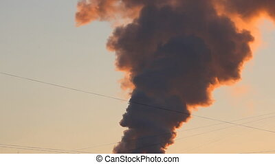 Thermal power plant, the smoke