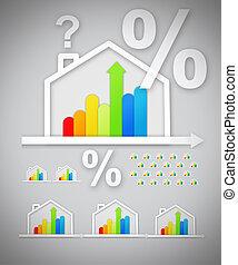 Energy efficient house graphics wit