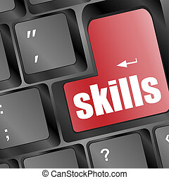 skills message on enter key of keyboard