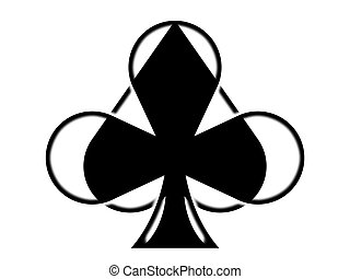 The playing card suits on the white background