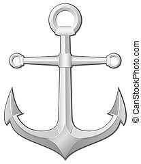 anchor - Grey anchor on a white background. Vector...