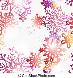 Christmas contemporary snowflakes pattern - Contemporary...