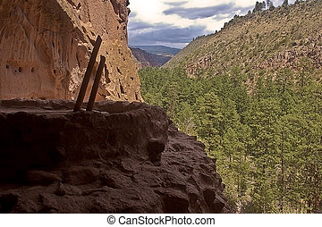 Hilltop Kiva - This is a picture of a kiva on a hilltop from...