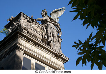 Prague, Vysehrad - Cemetery Statue of the Angel Religious...