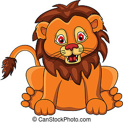 Funny lion Vector Clip Art Royalty Free. 4,248 Funny lion ...