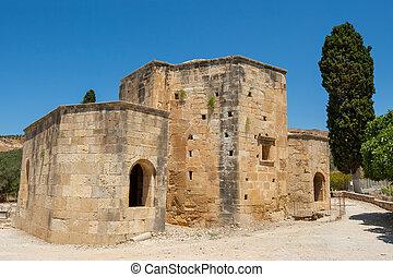 Ancient Basillica. Gortyn, Crete, Greece - Basilica of Agios...