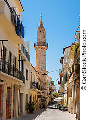 Turkish mosque in Chania. Crete, Greece - The Mosque of Gazi...