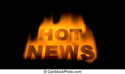 hot news - burning inscription hot news