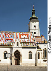 Church of St Mark, Zagreb. Croatia
