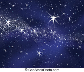 starry sky - colored illustration of the starry sky