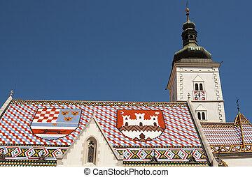 Church of St Mark, Zagreb. Croatia