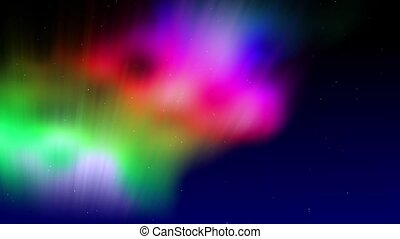 Shimmering Aurora - Colorful aurora shimmers in the night...