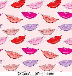Seamless lips pattern