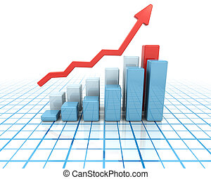 Rising profits - Chart showing rising profits