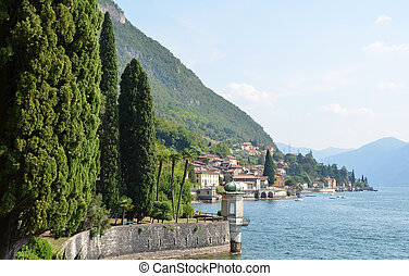 Lake Como from villa Monastero. Italy